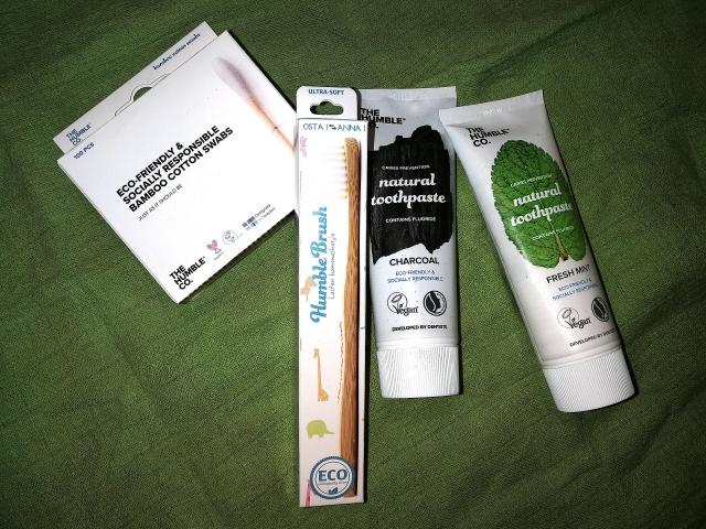 The Humble Co. ja ekologiset hammasharjat, hammastahnat ja vanupuikot