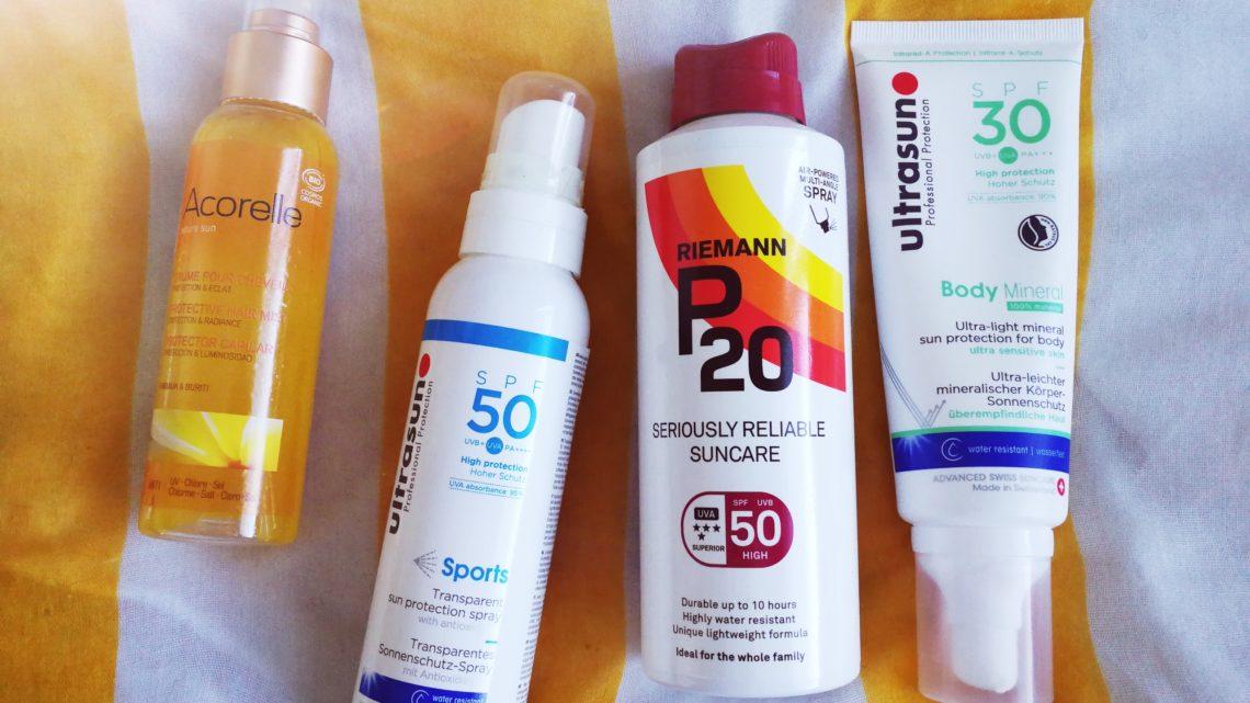 Aurinkotuotteet testissä: Ultrasun, Riemann P20 ja Acorelle Protective Hair Mist